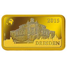 Goldbarren 1 g Dresdner Semperoper 2015