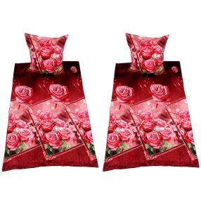 CoolSummer Bettwäsche 4-teilig, Rosen rot
