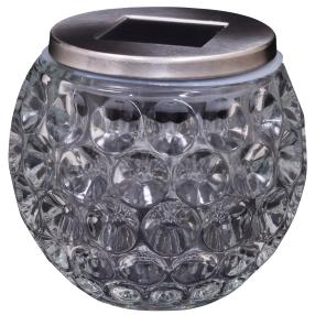 LED Solar-Tischleuchte, Glas