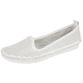 Andrea Conti Damen Leder-Slipper weiß