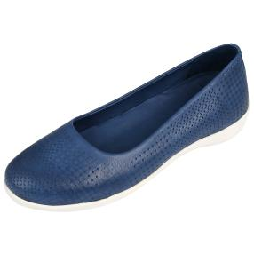 Andrea Conti Damen Leder-Slipper jeans