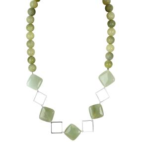 Collier 925 Sterling Silber Jade
