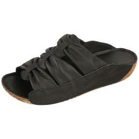 Andrea Conti Damen Leder-Pantolette schwarz