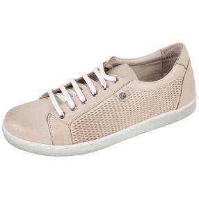 Andrea Conti Damen Leder-Sneaker silbergrau