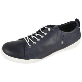 Andrea Conti Damen Leder-Sneaker dunkel blau