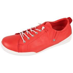 Andrea Conti Damen Leder-Sneaker rot