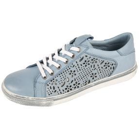 Andrea Conti Damen Leder-Sneaker bleu