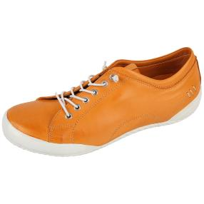 Andrea Conti Damen Leder-Sneaker orange