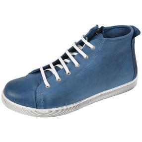 Andrea Conti Damen Leder-Schnürer jeans