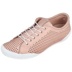 Andrea Conti Damen Leder-Sneaker rosé
