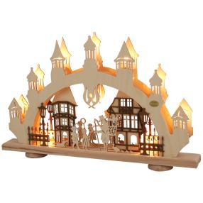 3D-Lichterbogen 'Altstadt', beige-braun
