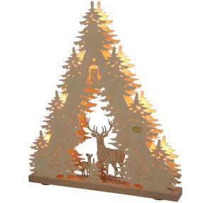 SAICO 3D-Lichterspitze Waldmotiv