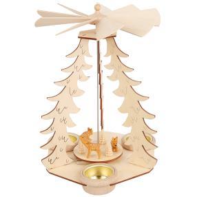 SAICO Holz-Tischpyramide Rehe 3 Teelichte