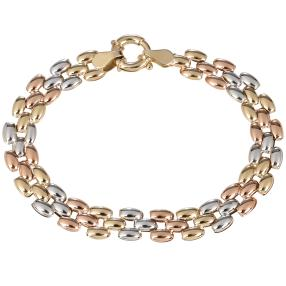 Armband tricolor 585 Gold