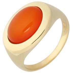 Ring 925 Sterling Silber vergoldet Karneol
