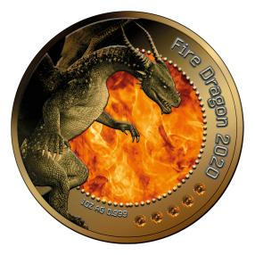 Drachen Feueropal Münze