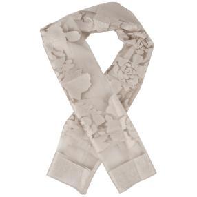IL PAVONE Schal, silber, transparent