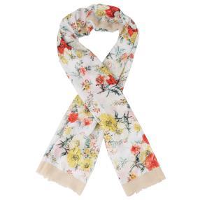 IL PAVONE Schal, multicolor, weiß