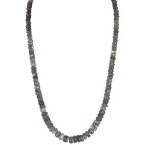 Collier Labradorit, ca. 180ct