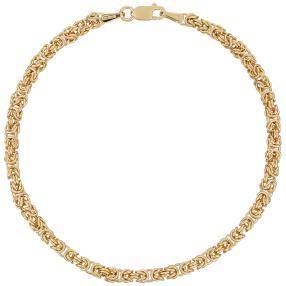 Königsarmband 585 Gelbgold, ca. 20 cm
