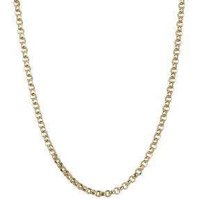 Erbskette 585 Gelbgold, ca. 80cm
