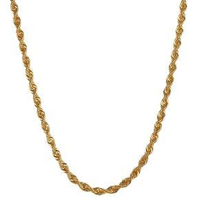 Kordelkette 585 Gelbgold, ca. 70 cm