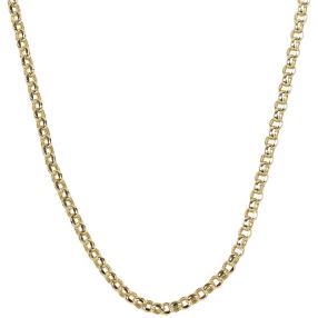 Erbskette 585 Gelbgold, ca. 60 cm