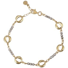 Armband 750 Gold bicolor