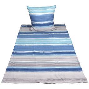 WinterDreams Bettwäsche 2tlg. Streifen blau-grau