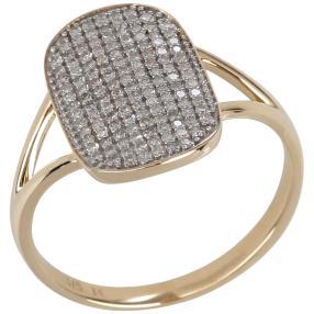 Ring 375 Gelbgold, Diamanten