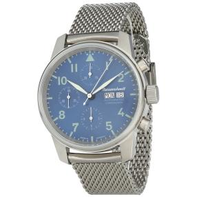 Messerschmitt Herren Automatik-Chronograph blau