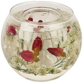 fleurs éternelles Kerzenhalter Rosen pink rund