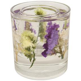 fleurs éternelles Kerzenhalter Blumen lila