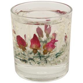 fleurs éternelles Kerzenhalter Rosen pink