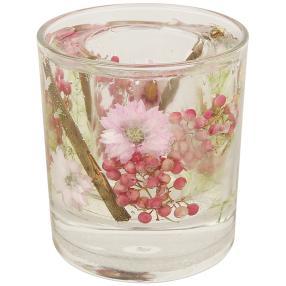 fleurs éternelles Kerzenleuchter Blumen pink