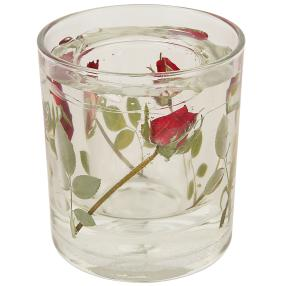 fleurs éternelles Kerzenhalter Rosen