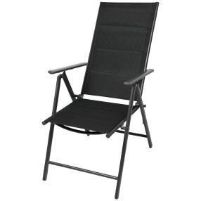 Liegestuhl schwarz Aluminium 2er-Set