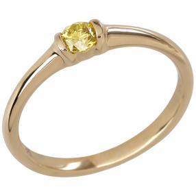 Ring 585 Gelbgold Brillant gelb