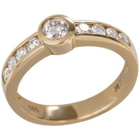 Ring 585 Gelbgold Brillanten