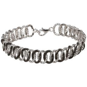 Armband 925 Sterling Silber rhodiniert Brillanten