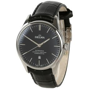 DELMA Herrenuhr Heritage Chronometer Auto schwarz