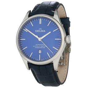 """DELMA Herrenuhr """"Heritage Chronometer"""" Auto blau"""