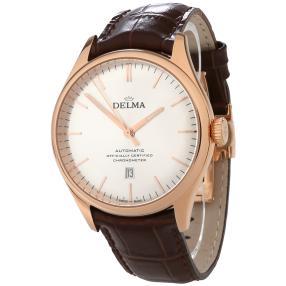 """DELMA Herrenuhr """"Heritage Chronometer"""" Auto rosé"""