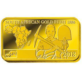 """1G Goldbarren """"Südafrikanischer Goldrausch"""""""