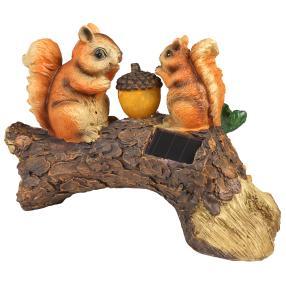 Deko-Leuchte Eichhörnchen am Baumstamm