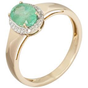 Ring 585 Gelbgold, Smaragd