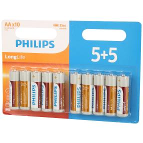 PHILIPS 5+5 Batterien AA