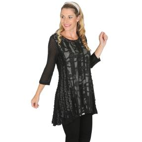 VV Shirt 'Odeda' schwarz/weiß