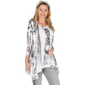 VV 2 in 1 Shirt 'Ostara' weiß/schwarz