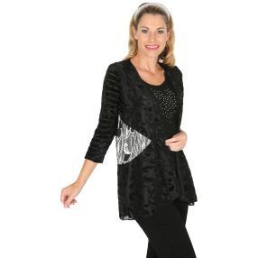 VV 2 in 1 Shirt 'Oradea' schwarz/weiß